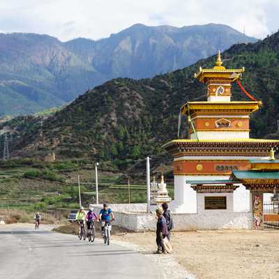 Bike ride around Paro, Bhutan