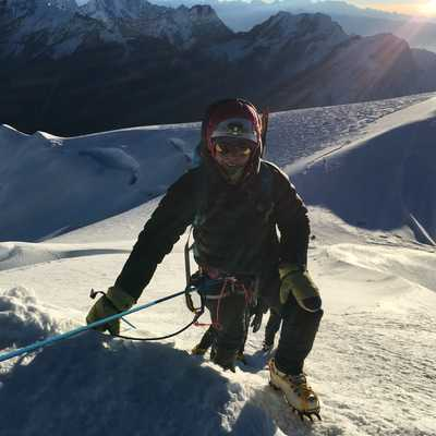 View down from Mera Peak's summit, Nepal