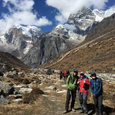 Looking back towards Tangnag, Nepal
