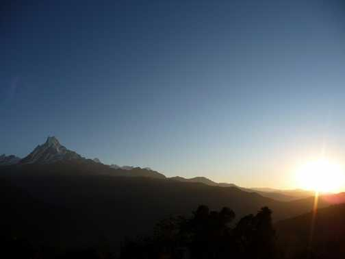 Sunrise and Machapuchare