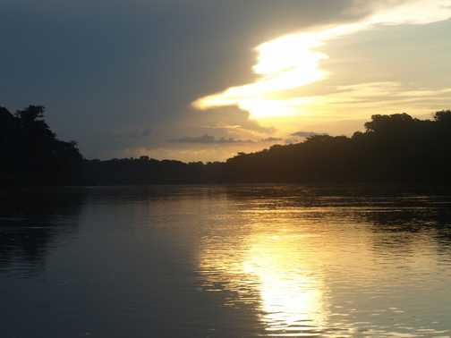 river sunset