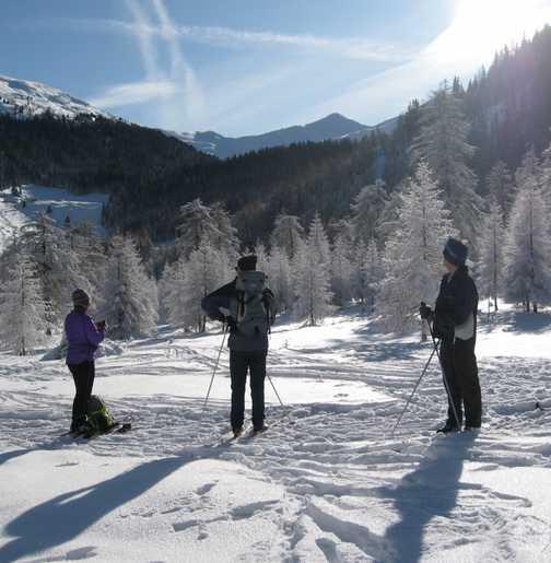 Day 2 Obernberg valley Off track skiing - SatNav anyone?