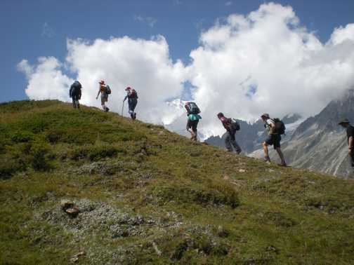 Hiking on Mont De La Saxe