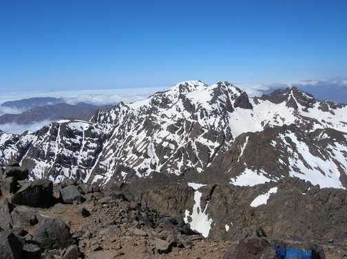 On the way down from Toubkal.