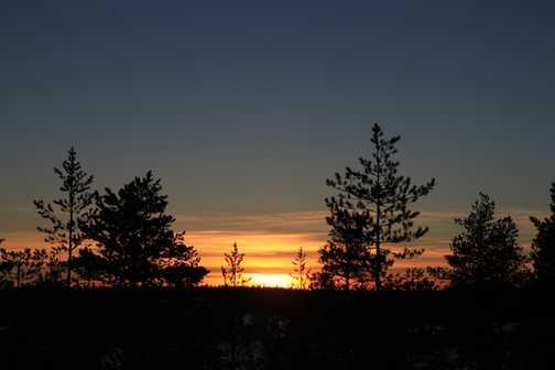 sunset basecamp oulanka
