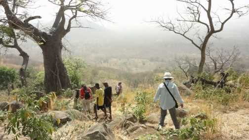 Descending from Iwol village