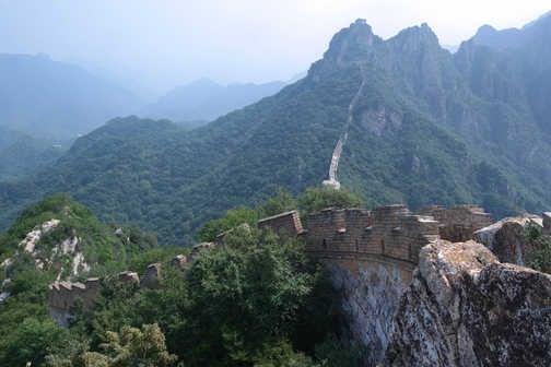 Winding dragon wall