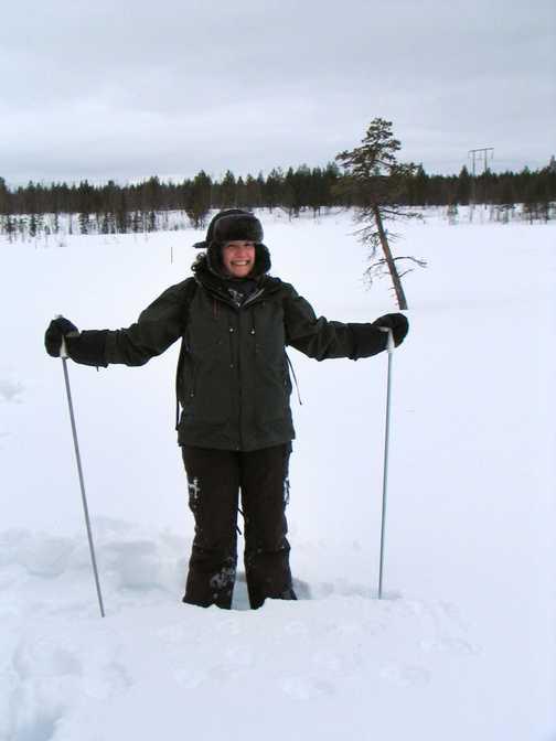 Amanda snow shoeing