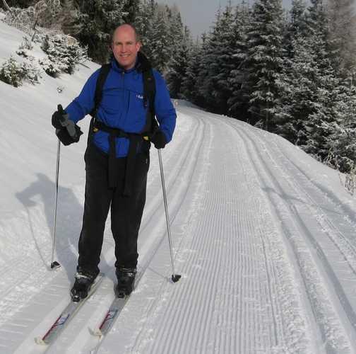 Day 6 Mariawaldrast Anthony on skis!