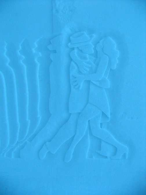 Snow wall carving - Ice Hotel
