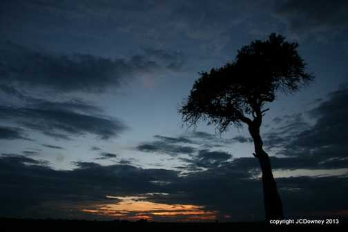 only in the Mara do you get these sunsets!