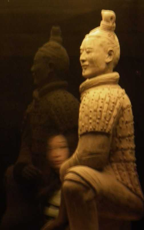 Xian warrior with bystander