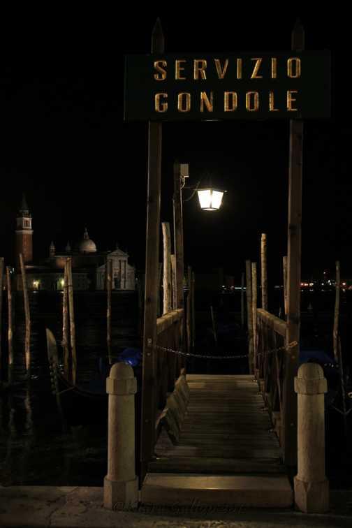 The gondola station sleeps for the night