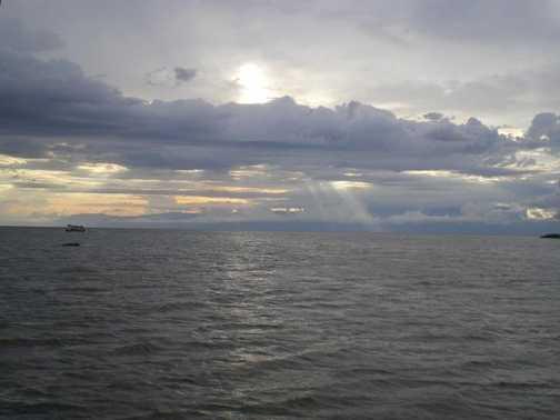 Sunset over Kazinga Channel