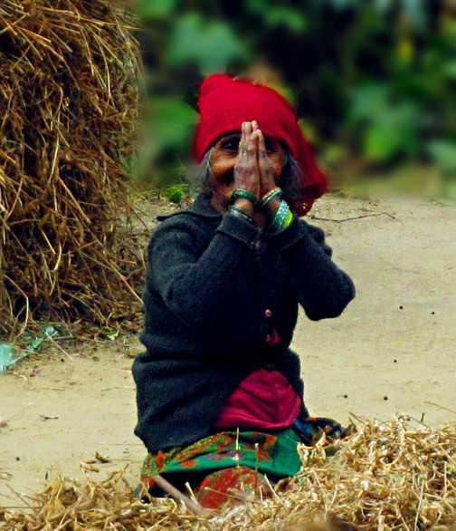 Namaste' - shared blessings while trekking the Annapurna Circuit