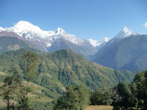 Annapurna South, Hiunchuli and Machapuchare