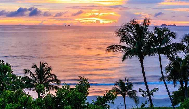 Beach sunset in Panama