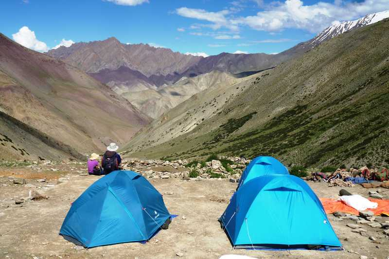 Campsite at the base of the Ganda La, Ladakh