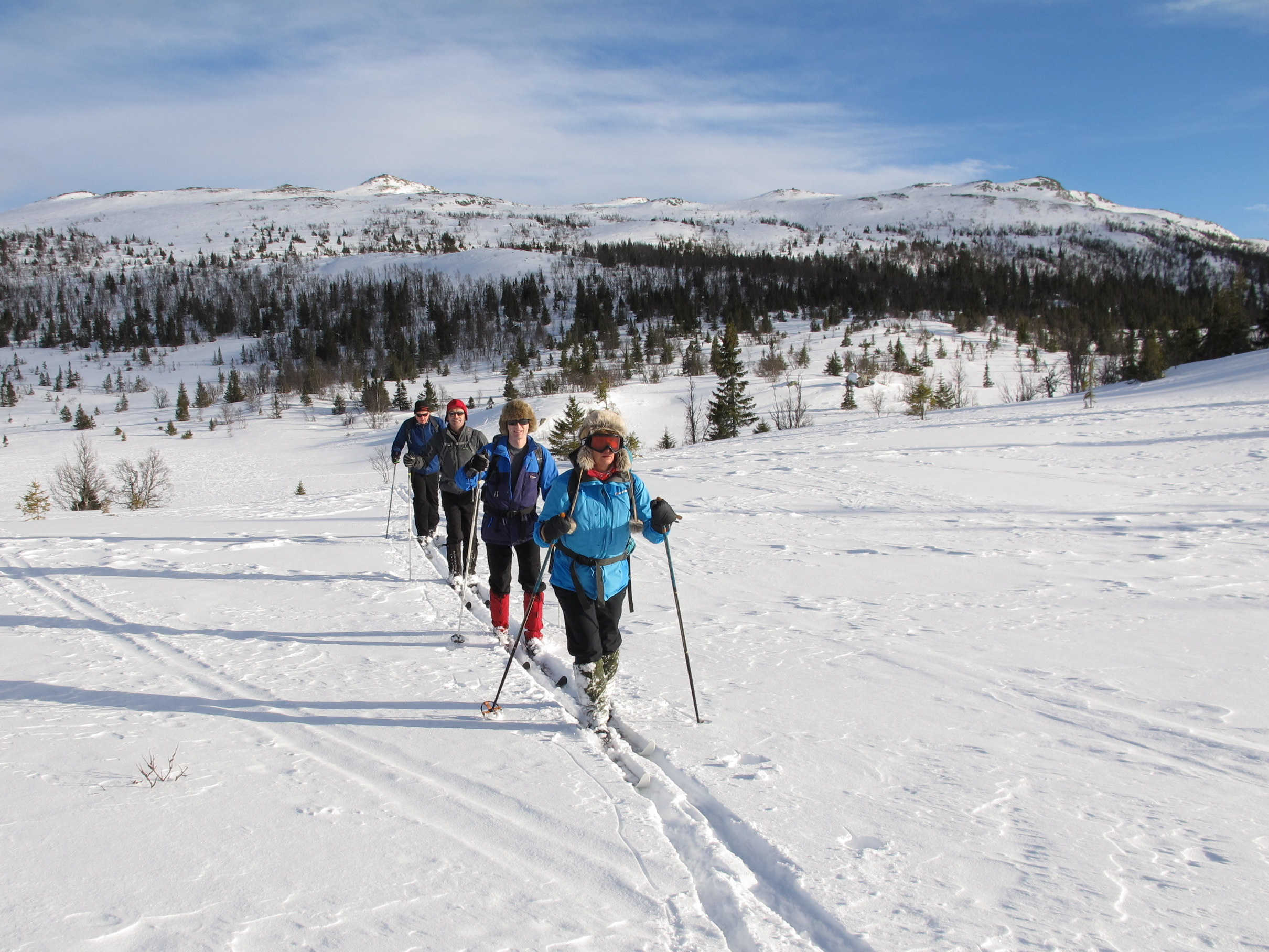 Cross-country skiing Kvitavatn