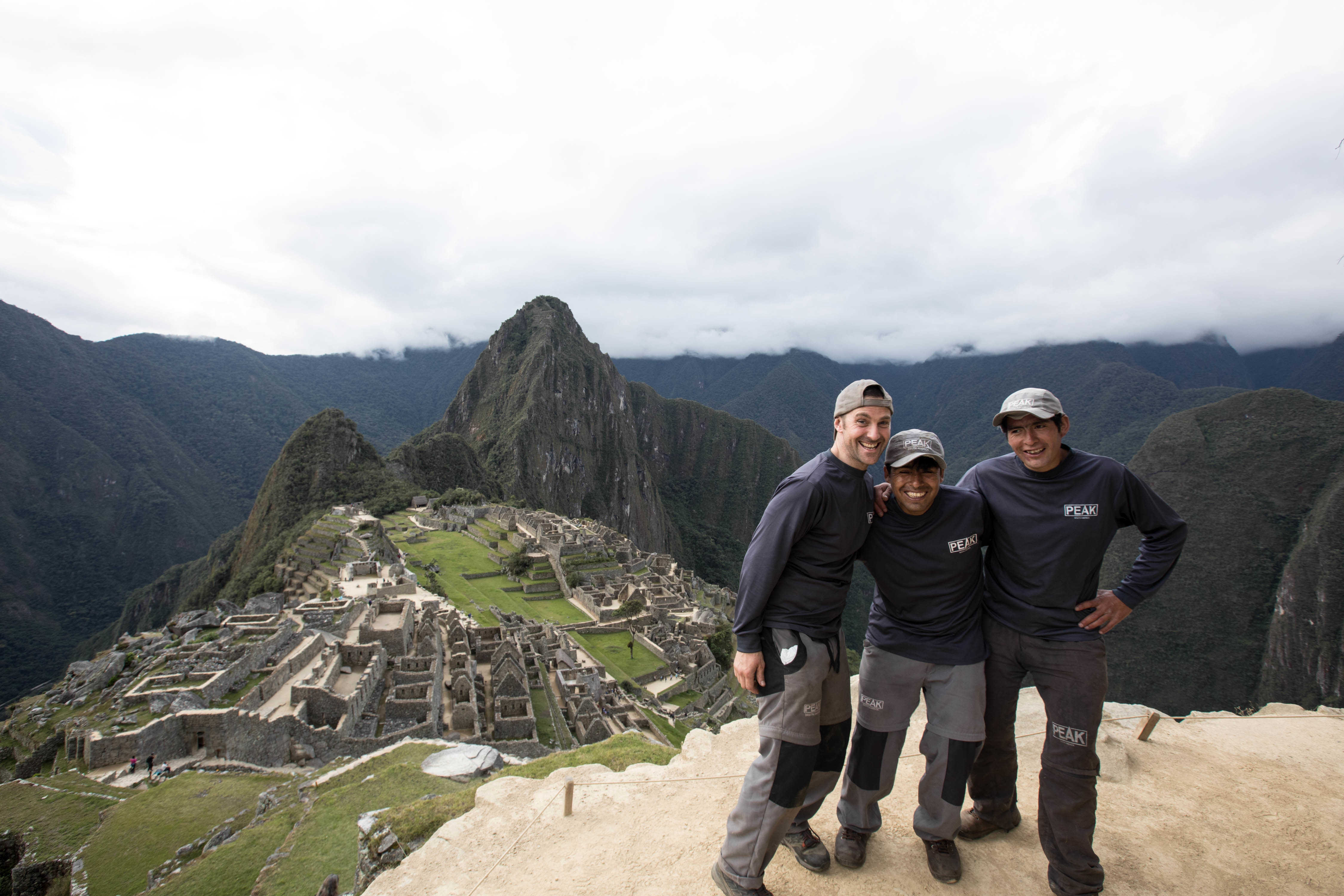 Exodus Inca Trail porters see Machu Picchu for the first time