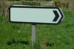Blank directional sign - Lost?